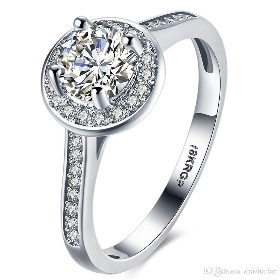 vpjmgck rings original wedding promise diamond engagement stylish
