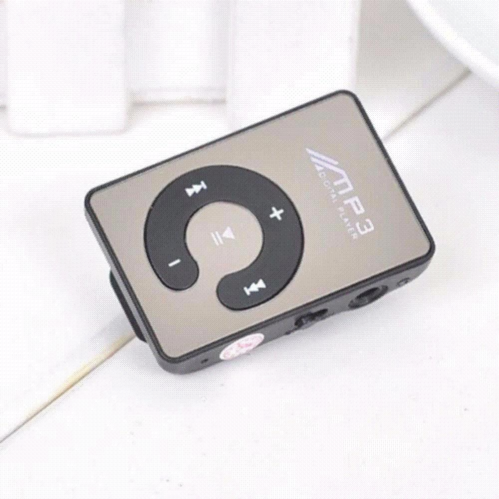 Mini Mirror Clip USB Digital Mp3 Music Player Support 8G SD TF Card mp3 player mp3 player 8GB usb mp3 player Black