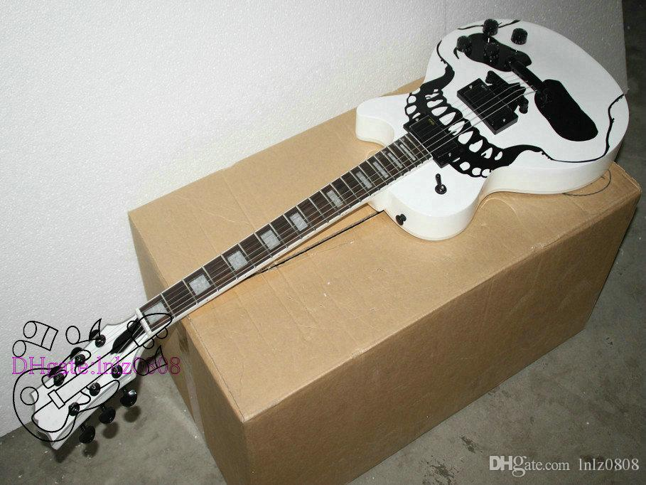 new arrival skull electric guitar white color high quality musical instruments a77889 dean. Black Bedroom Furniture Sets. Home Design Ideas