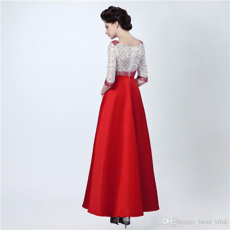 Long Party Dress Abiti Da Cerimonia Donna Top Lace Floor Length Prom Dress Elegant Evening Dresses Peals