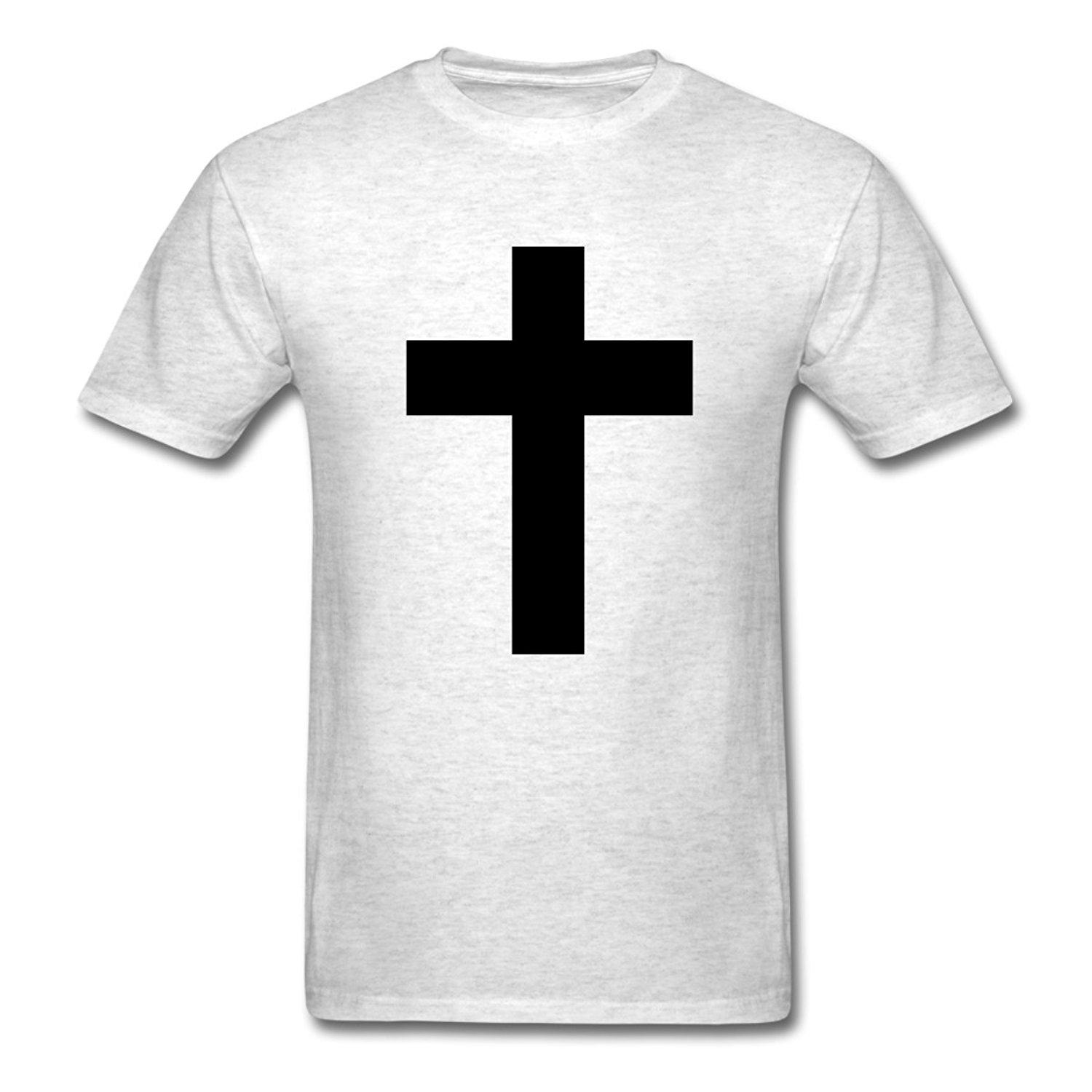 2017 New Fashion Spreadshirt MenS White The Cross Jesus T Shirt 100 Cotton Male O Neck Short Tops Tee Shop For Shirts
