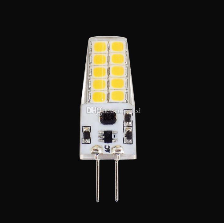 Energy-saving Crystal Lamp Bulb G4 2835 SMD 20 LEDs Silicone 360 Beam Angle Crystal Lamp warm white/ white 12V Corn Bulb Led Light