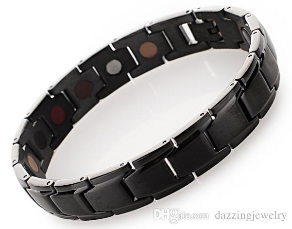 Nouvelle arrivée 2016 bracelet de santé magnétique en acier inoxydable avec germanium infrarouge rayon anion benifits avec livraison gratuite