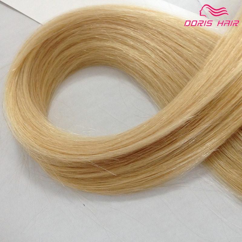 Estensioni bionde dei capelli del nastro di colore 613 nastro economico brasiliano dei capelli umani 100g nelle estensioni dei capelli Consegna veloce trasporto libero DHL