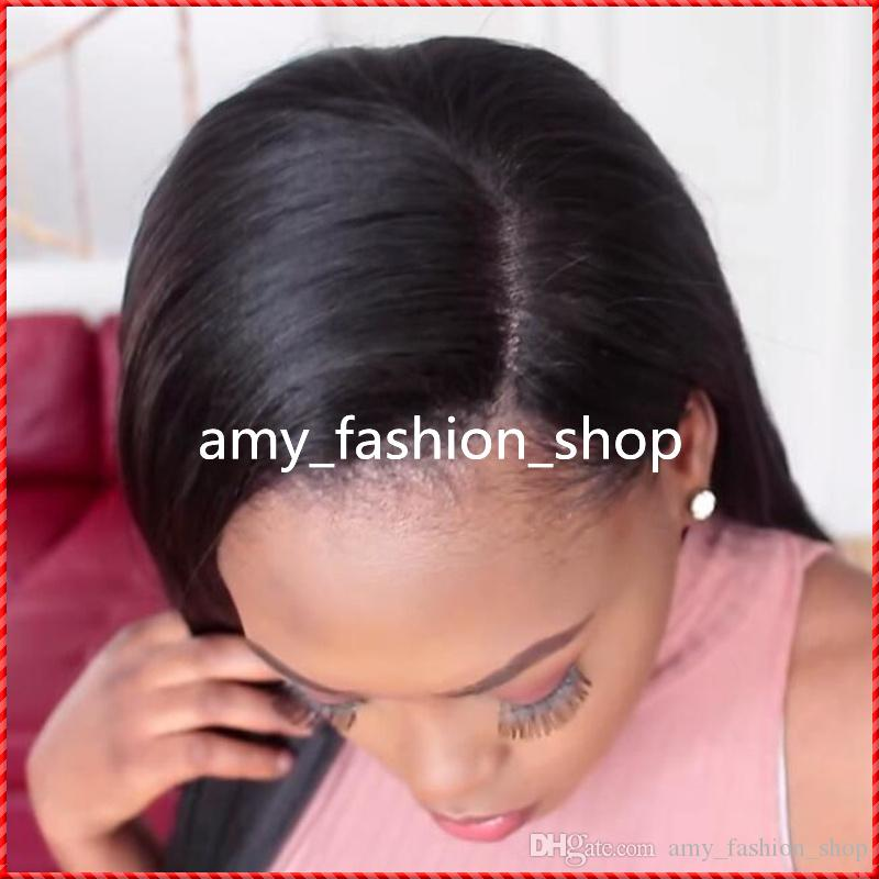 Lace Wigs Straight 100% Brazilian Human Hair Unprocessed Full Front Lace Human Hair Wigs For Black Women