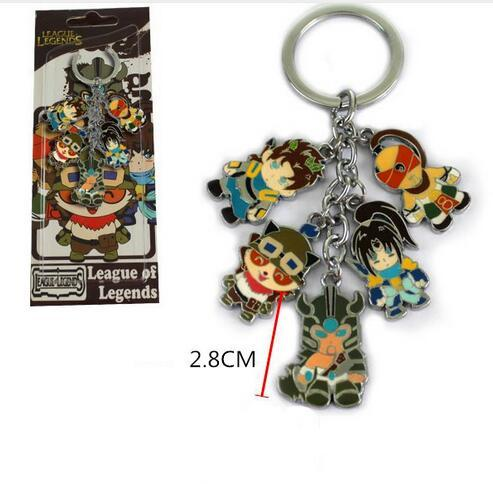 Hot! 10 Satz Misch Anime Spiel League of Legends keychain Zink-legierung Schlüsselanhänger Metall Niedlichen Zahlen anhänger Spiel modell Cosplay spielzeug Sammlung