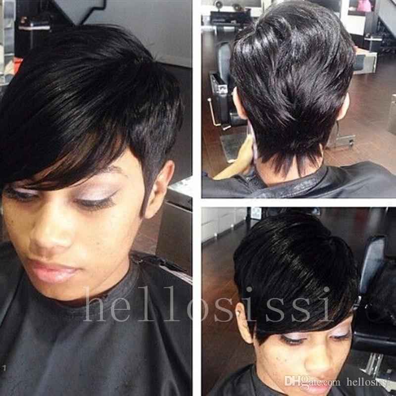 Pixie Cut Female African American Human Hair Women S Wigs Short Bob