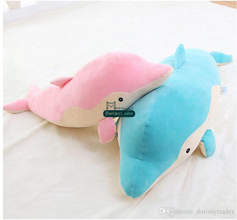 Dorimytrader 90 см гигантский плюшевый эмульсионный Дельфин игрушка чучела мягкий большой 35