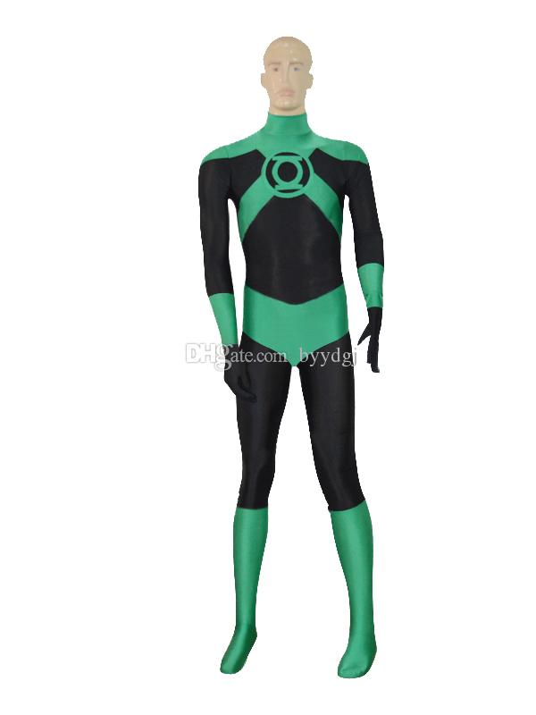 Deep Green Lantern Costume Superhero Halloween Party Cosplay Zentai Suit