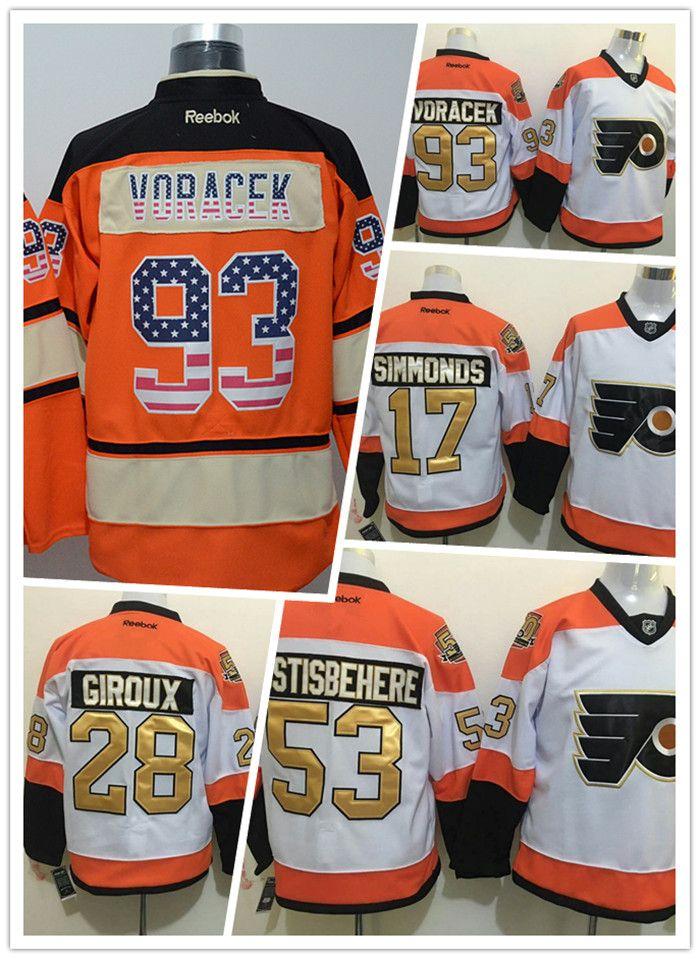best website 98719 72eb1 NHL Philadelphia Flyers 50th jerseys Cheap Ice Hockey Jerseys #17 Wayne  Simmonds #28 Claude Giroux #93 Jakub Voracek hockey goal