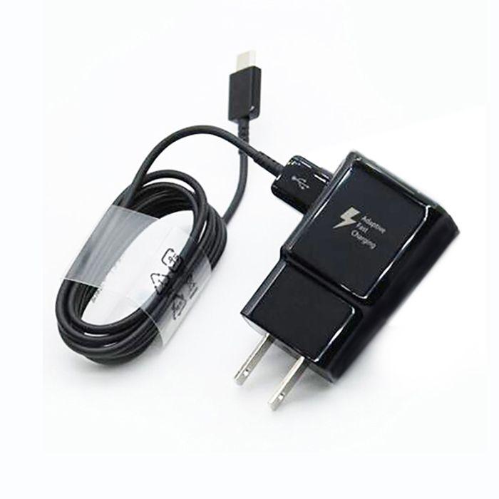Für s8 9 V 5 V 2A Reise USB Wandstecker Ladegerät Schnellladegerät voll 2A Heimadapter mit s8 Typ C schwarz Kabel für S10 S10 + LG Telefon