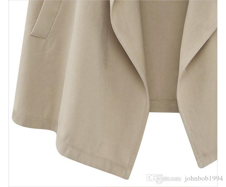 Women Long Cardigan Coat 2016 Hot sale Autumn Winter Fashion Women Loose Knit Waterfall Cardigan Jacket Personality Irregular Long Jacket Co
