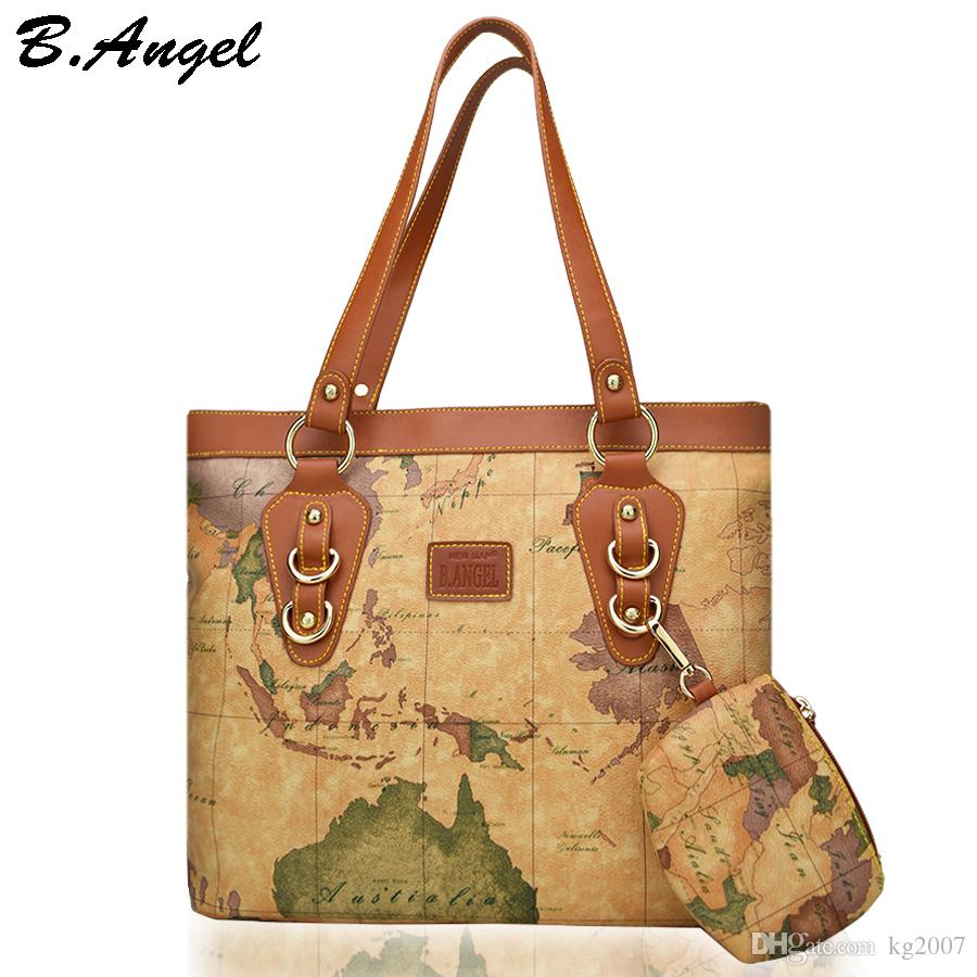 High quality world map women bag with coin purse fashion handbag high quality world map women bag with coin purse fashion handbag high capacity school bags brand tote bag casual shoulder bags womens purses women bags from gumiabroncs Image collections