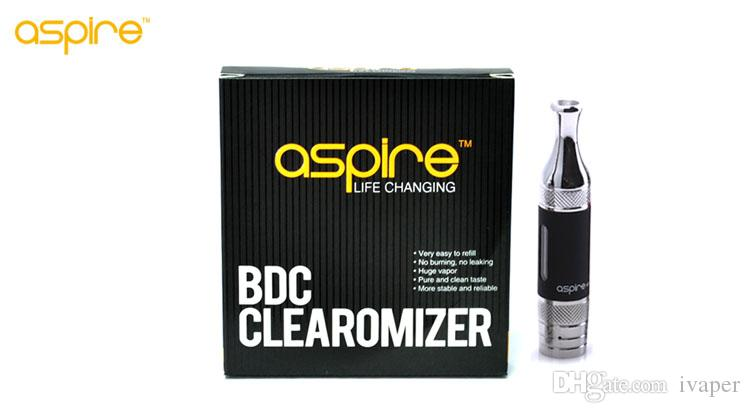 100% Authentic Aspire ET S Tank Bottom Vertical Coil Aspire BVC ETS Atomizer awesome flavor and vapor DHL