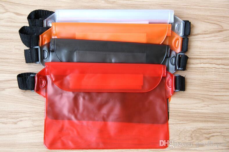 Sommer ganze Größe PVC wasserdichte Gürteltasche Pouch im Freien Drift Schwimmen Sport 3-Schicht versiegelte Tasche für iPhone 8 7 plus 6 s Samsung s8 s7