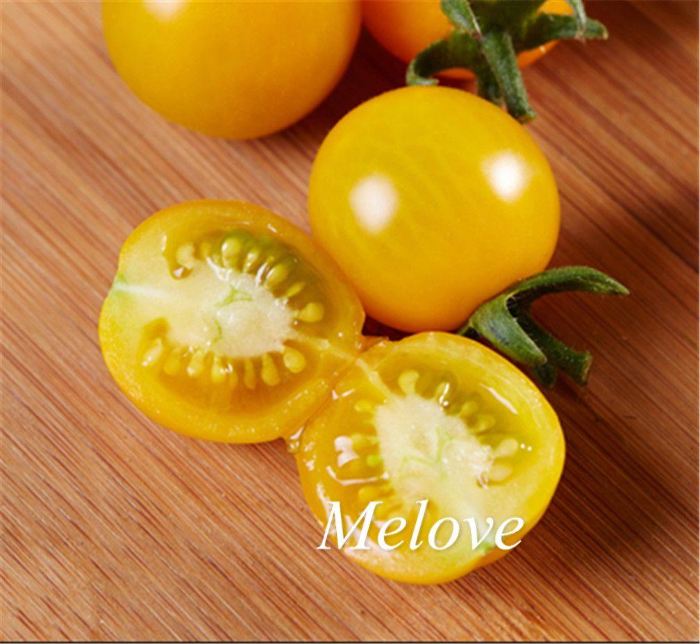 100 Stücke Gelbe Kirschtomate Non-gmo Gemüsesamen Einfach zu DIY Hausgarten Bonsai Gemüse