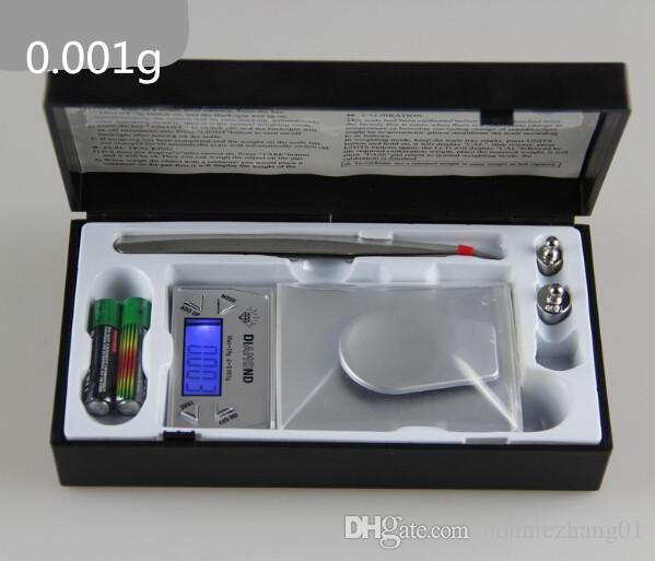 0.001g Digital medcine pill weight scale portable laboratory testing tool powders balance 10g 20g 50g with tweezers and box
