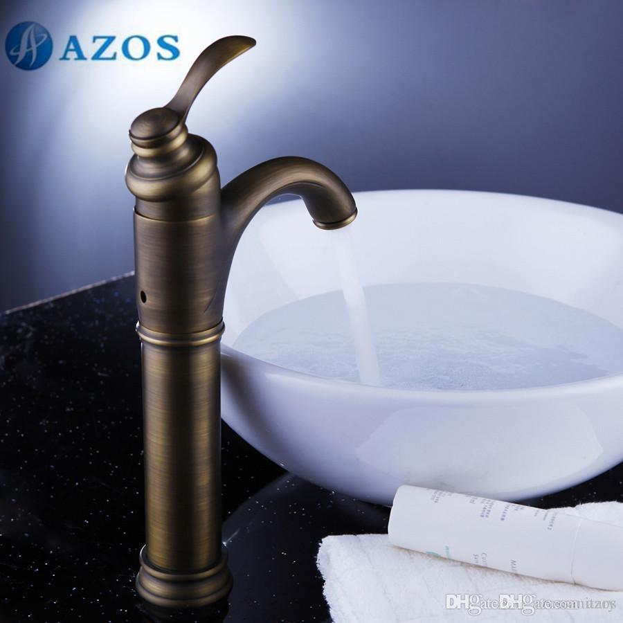 Shop Bidet Faucets Online, Azos Bathroom Basin Tap Brass Antique ...