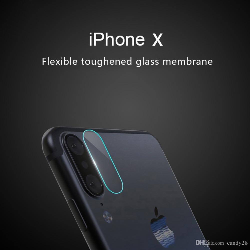 For iphone X High Quality 2.5D Mobile Phone HD Camera Lens Tempered Glass Protector for Samsung note8 with Retail Box