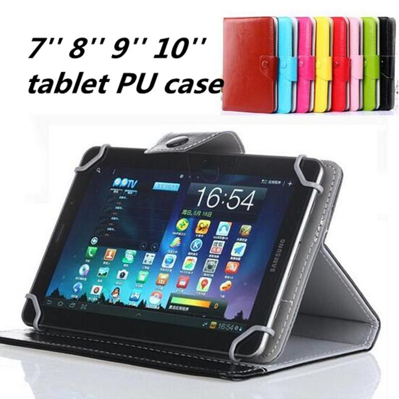 99c24f587939 7 8 9 10 Inch Tablet Flip Case Universal Leather Pu Cases Built In ...