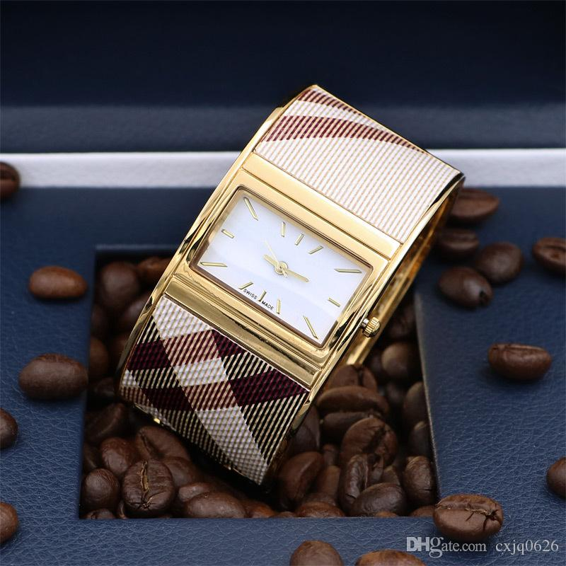 2019 de haute qualité Nouvelle arrivée femmes robe d'or Montre à quartz en acier fahion montres-bracelets pour Lady Femme montre relojes cadeaux mujer horloge bangle