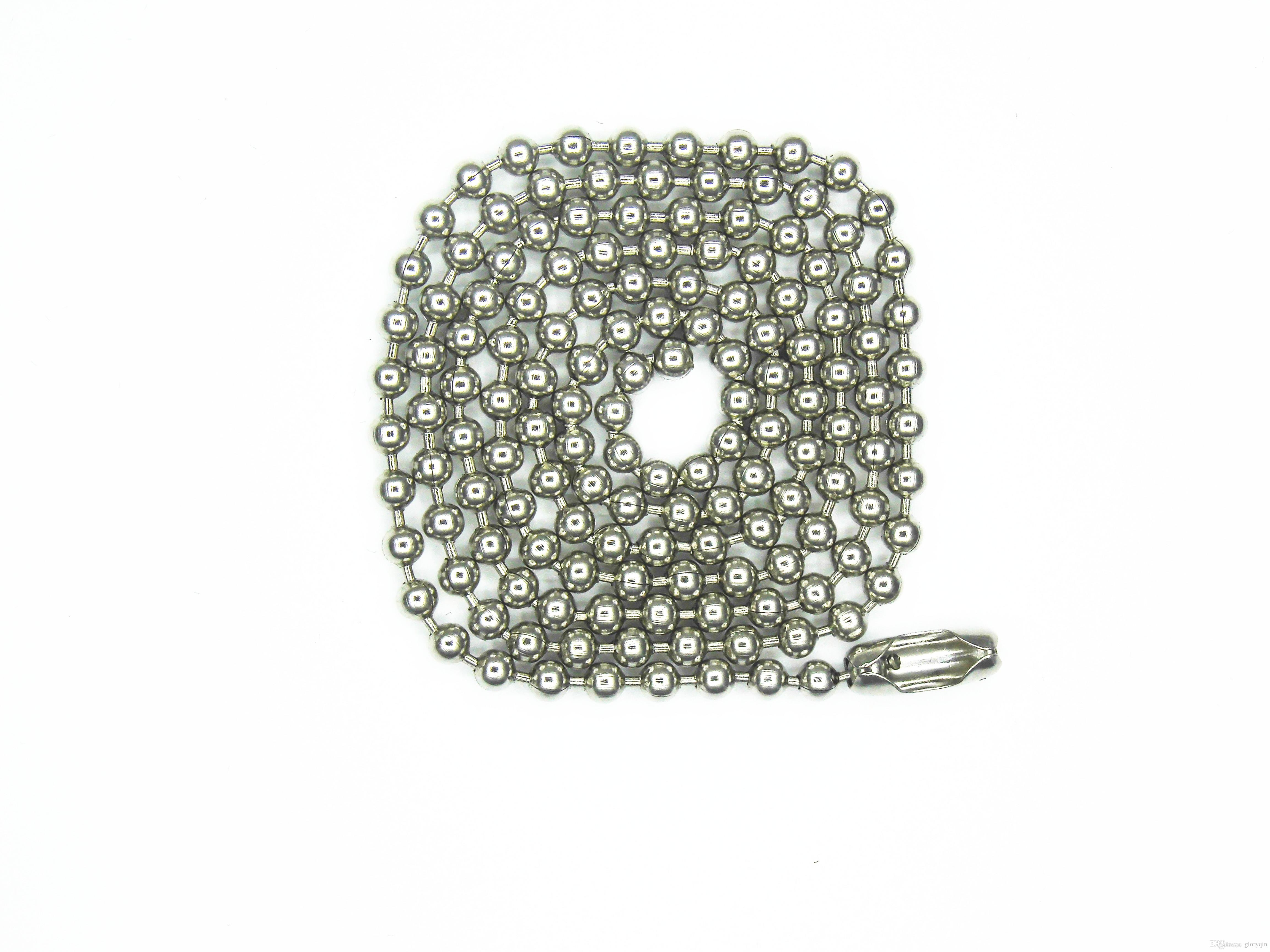 30 Inch Stainless Steel #8(4mm) Ball Chain Necklaces 10 Count beads chain necklace Jewellery making diy chain
