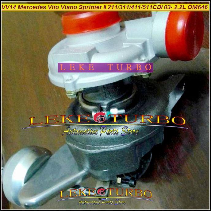 - VF40A132 Mercedes-PKW Sprinter II 311CDI 411CDI 511CDI 2003-09 2.2L OM646 DE22LA VV14 A6460960199 turbocharger (1)