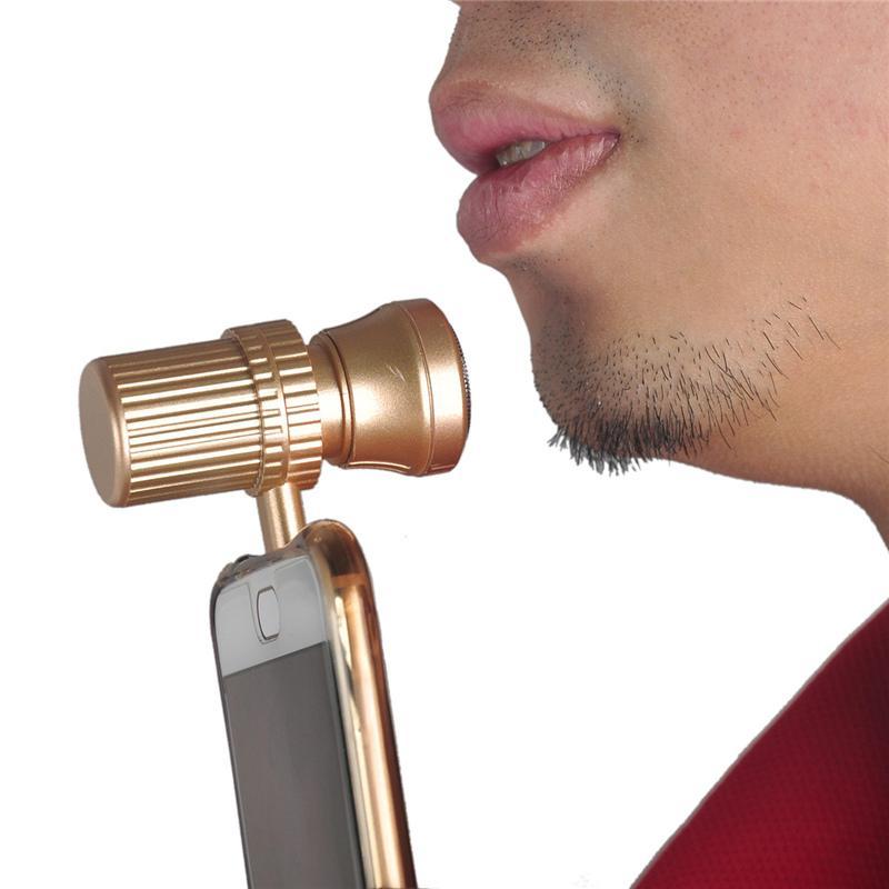 Mini USB rasoio da barba portatile da viaggio portatile rasoio accessori del telefono cellulare Iphone / Android MINI rasoio elettrico oro rosa oro 0606019
