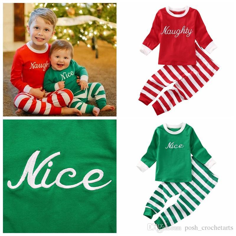 2019 Boys Christmas Outfits Matching Brothers Clothes Xmas Boys Clothing  Sets Wording Pajamas Sets Toddler Fashion Clothes From Posh_crochetarts, ... - 2019 Boys Christmas Outfits Matching Brothers Clothes Xmas Boys