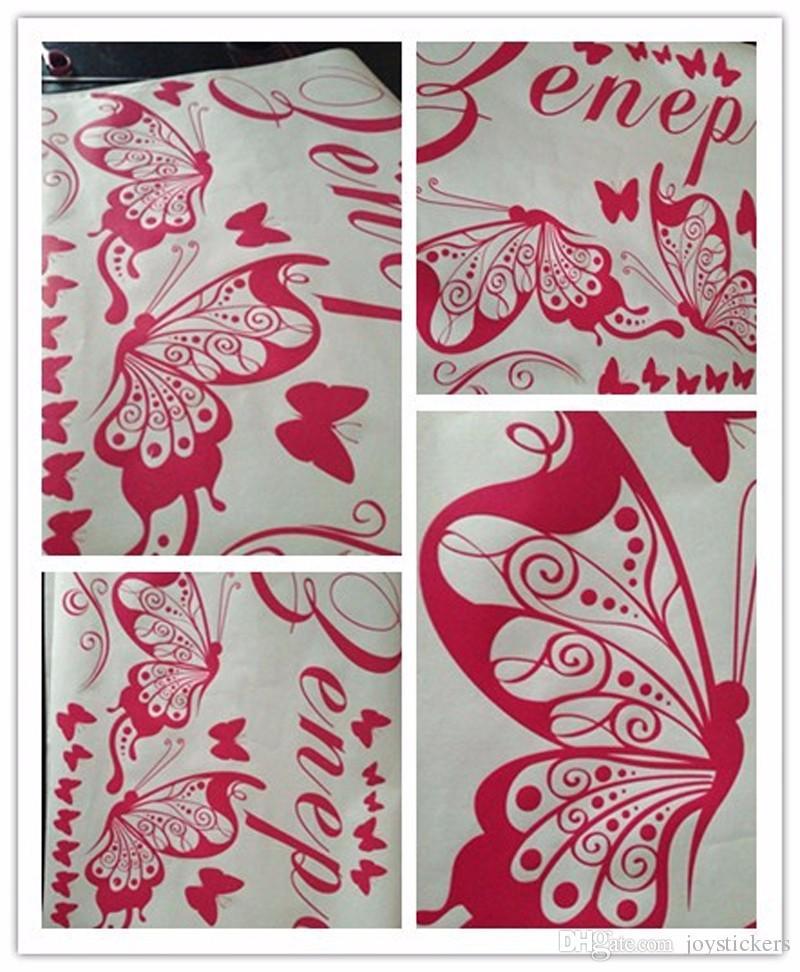 Farfalla personalizzata fai da te vinile farfalle decorative Moda Wall Art Nursery Girl Wall Sticker Wall Stickers bambini Camere