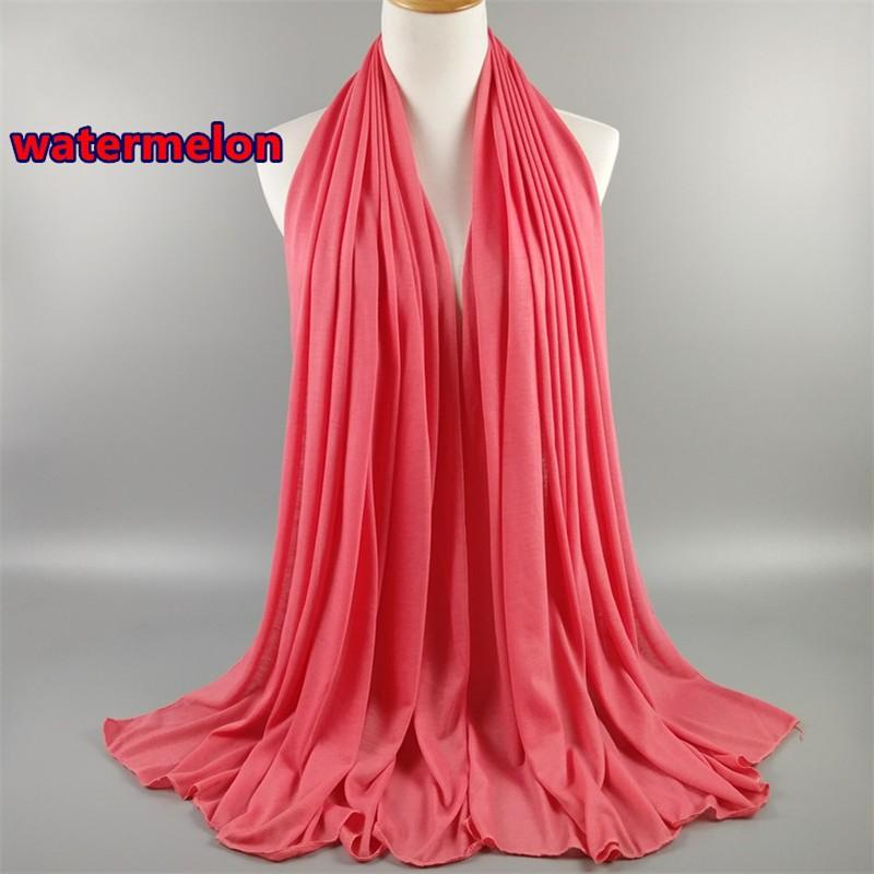 Solid Color Jersey Scarves Soft And Comfortable Classic Wild Autumn And Winter Warm Muslim Scarves Hijab