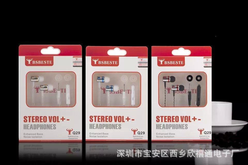 Free Shipping100% Nuovo nuovissimo BSBESTE Cuffie con microfono a distanza Apple IPhone 5G 6G Samsung XiaoMi In Box