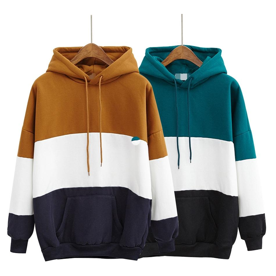 a618f2f04da 2019 Wholesale Autumn Hoodies Women Winter Cute New 2017 Kawaii Clothes  Hoodie Korean Style Splicing Stripe Hit Color Harajuku Sweatshirt Women  From Sizhu