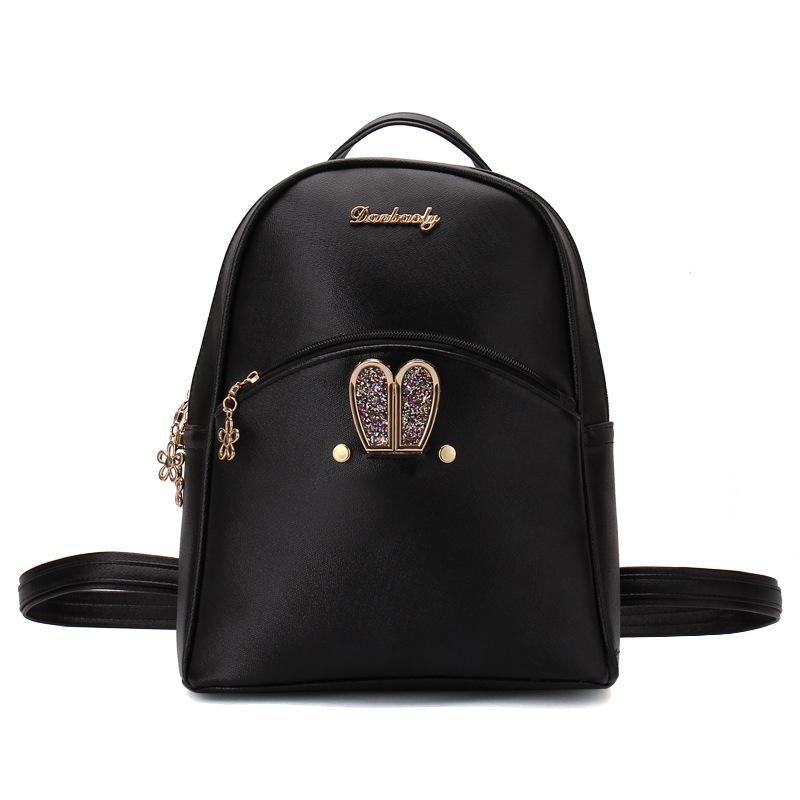 576b173da22c Backpacks Women Custom Stylish cartoon Bags Bunny Kid s School Bag For Boys  Girls Black Leather Backpack for Girls Schoolbag