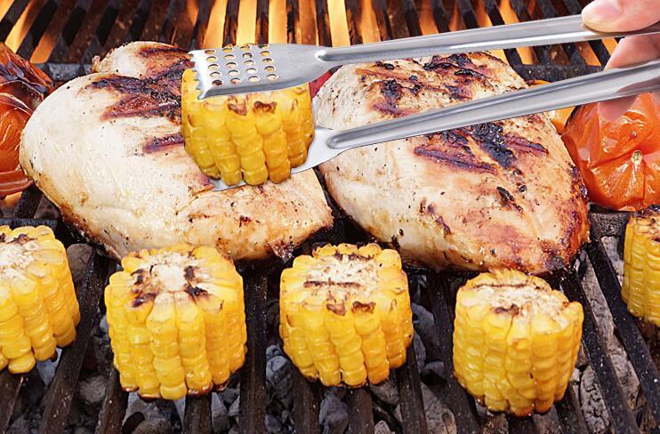 Paslanmaz çelik gıda maşası BARBEKÜ mutfak pişirme gıda servis malzemesi anti Hhat ekmek klip pasta kelepçe barbekü maşası