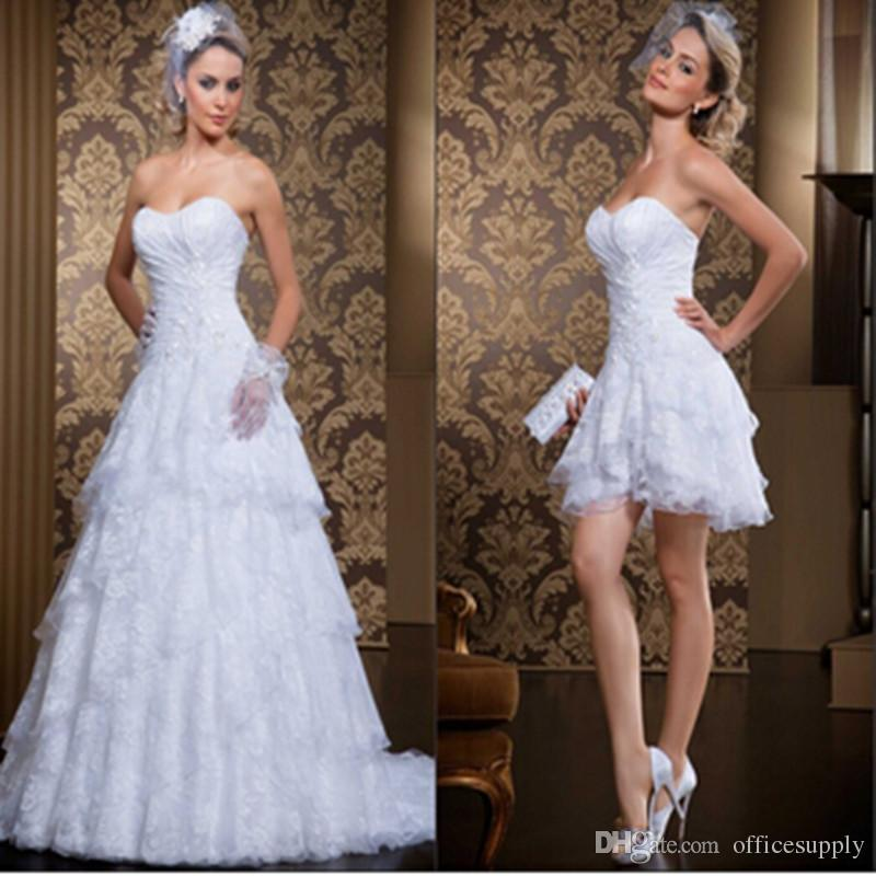 b2d7954cb75 Discount Custom Made New Style 2 In 1 Wedding Dress 2019 Vintage Sweetheart  Sexy Sweetheart Vestidos De Novia Bridal Gowns With Detachable Skirt Cheap  ...