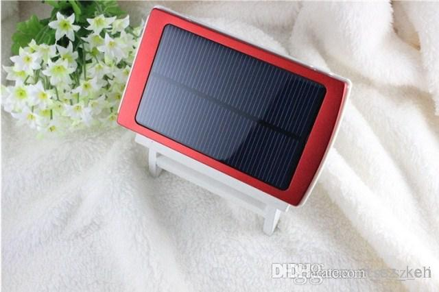 30000mAh Solar Power Bank Portable External Battery Charger Smart Phones Solar Powerbank Dual USB LED Lighting for Camping