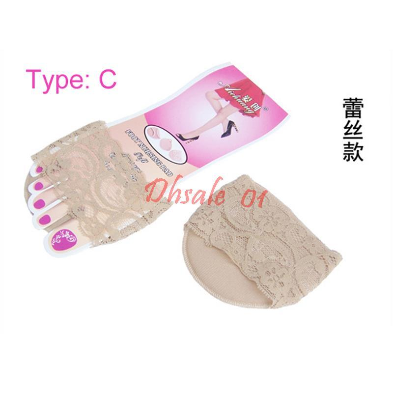Ladies Forefoot Invisible Half Yard Pads Slip Resistant Insoles For High Heels 5types