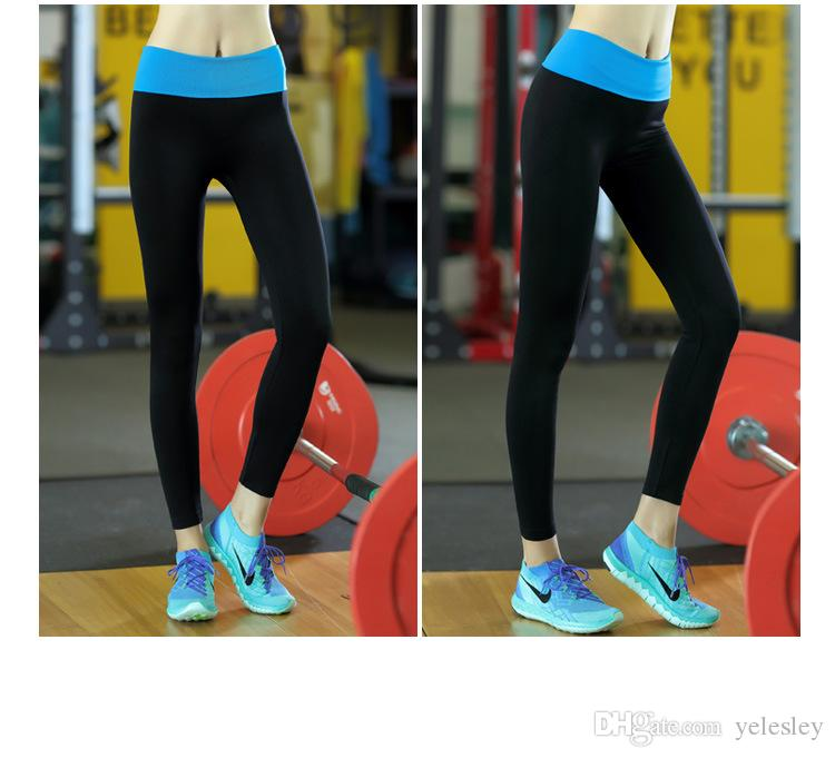 Low price Women Outdoor sports quick-drying dance yoga leggings Tall waist elastic thin fitness running tight trousers