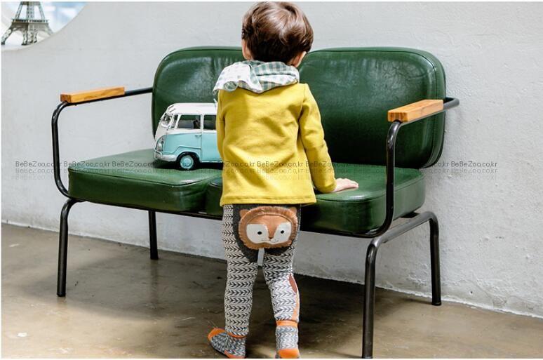 Baby PP Pants Cartoon Stripe Baby Leggings Elastic Cotton Soft Girls PP pants fox Penguin Lion Kids Tights