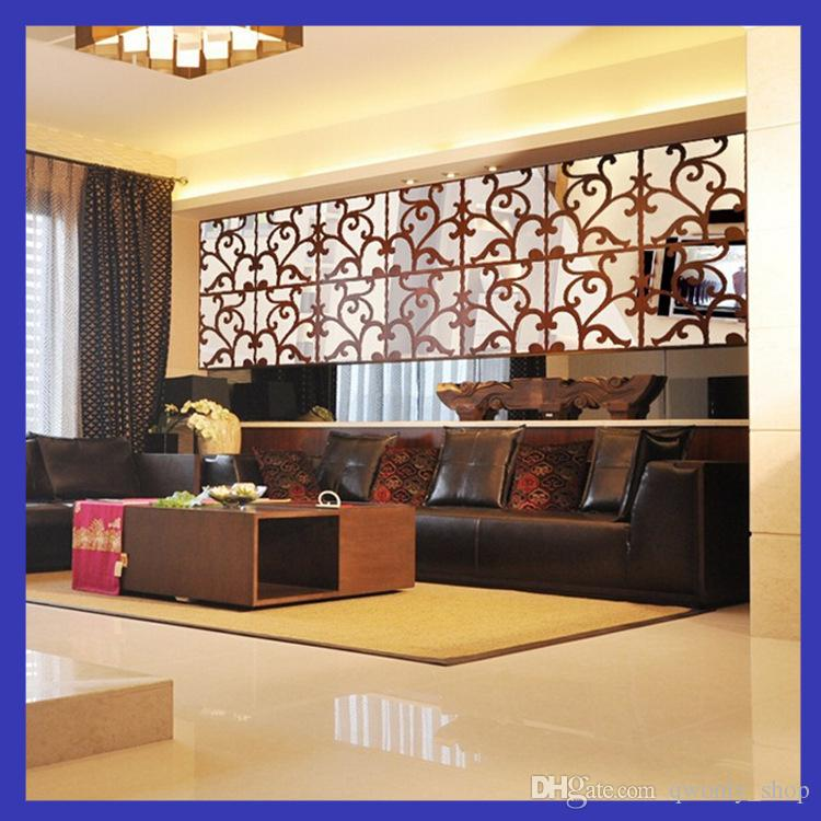 DIY 4lot3D Home Decoration Acrylic Mirror Wall Stickers Modern Design Living Room Home Decor Sticker Best Mirror Effect