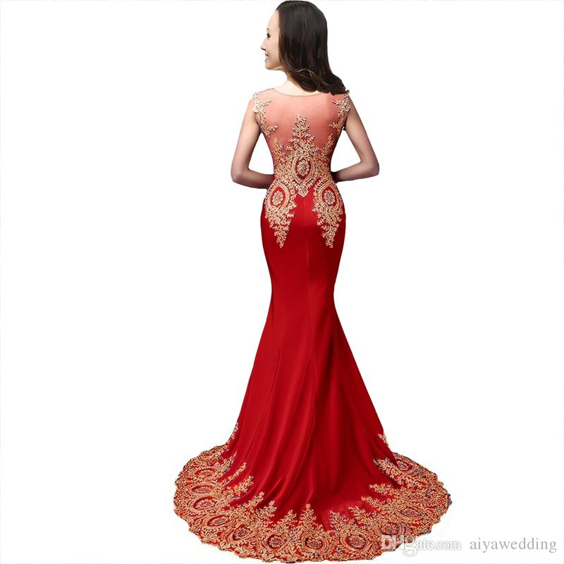 2021 Evening Dresses Sheer Jewel Neck Illusion Back with Crystal Mermaid Rhinestones Prom Gowns Cheap Custom Gowns