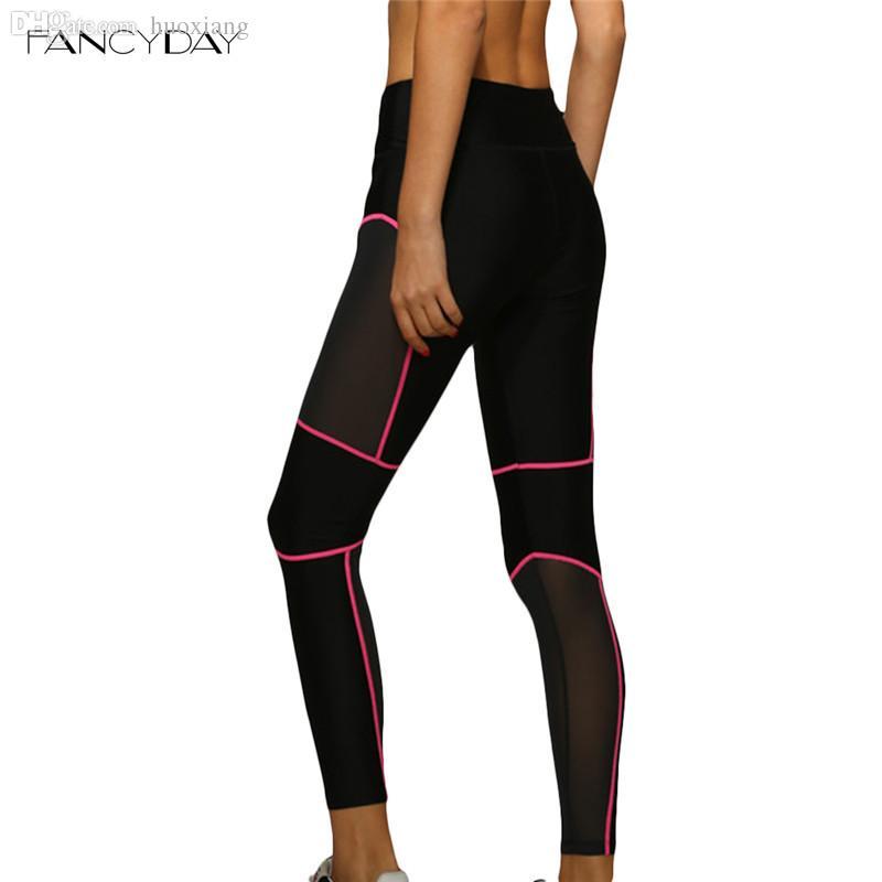Fitness Leggings Cheap: 2019 Wholesale Women Gym Black Sport Leggings Patchwork