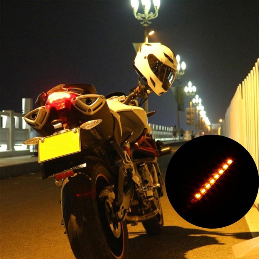 30 PZ / LOTTO 3528 32-SMD LED Luce Del Motociclo Integrato Luce targa Lampada Freno Posteriore Indicatore di direzione Indicatore Lampada In Silicone Morbido