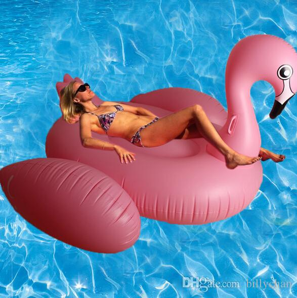 2018 1.9m Giant Swan Inflatable Float Inflatable Swan Swimming Ring  Swimming Pool Toys Flamingo Float Ride On Pool Toy For Kids Dhl Free D402 3  From ...