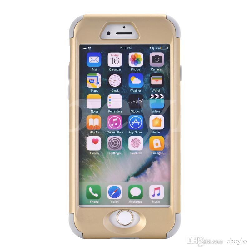 Defender Hard Back Cases para Iphone 5/6/7 Plus Waterproof Waterproof Shock Proof Mobile Phone Funda colorida Hybrid Plastic Silicone Samsung S6 Edge
