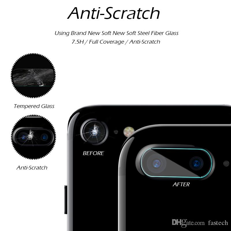 For Apple iPhone 7 4.7inch iPhone 7 Plus 7Plus Rear Camera Tempered Glass Back Lens Anti-Scratch Circle Guard Case Film for iphone 7 4.7""