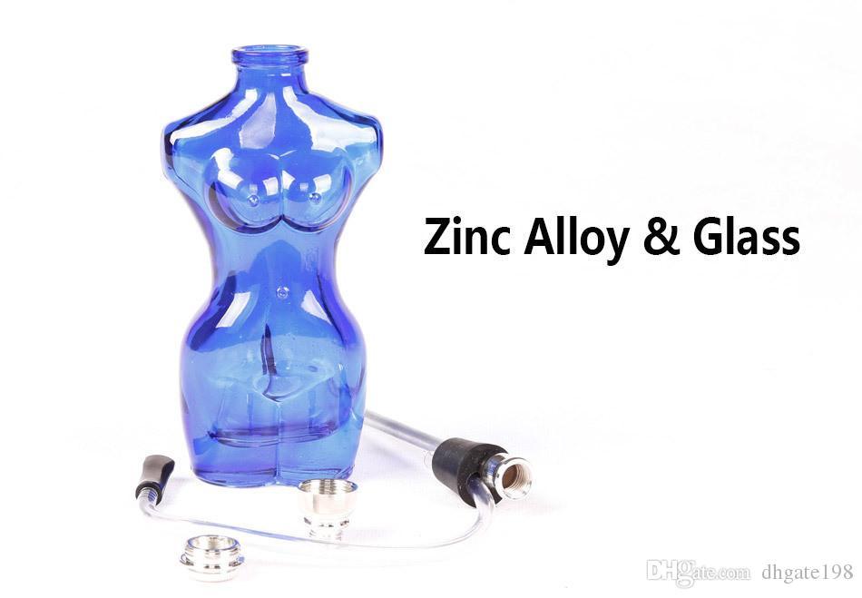 Noir / Rouge / Violet / Clair / Bleu Beauté Coloré verre Narguilé Sexy femmes verre fumer des pipes à eau Livraison gratuite
