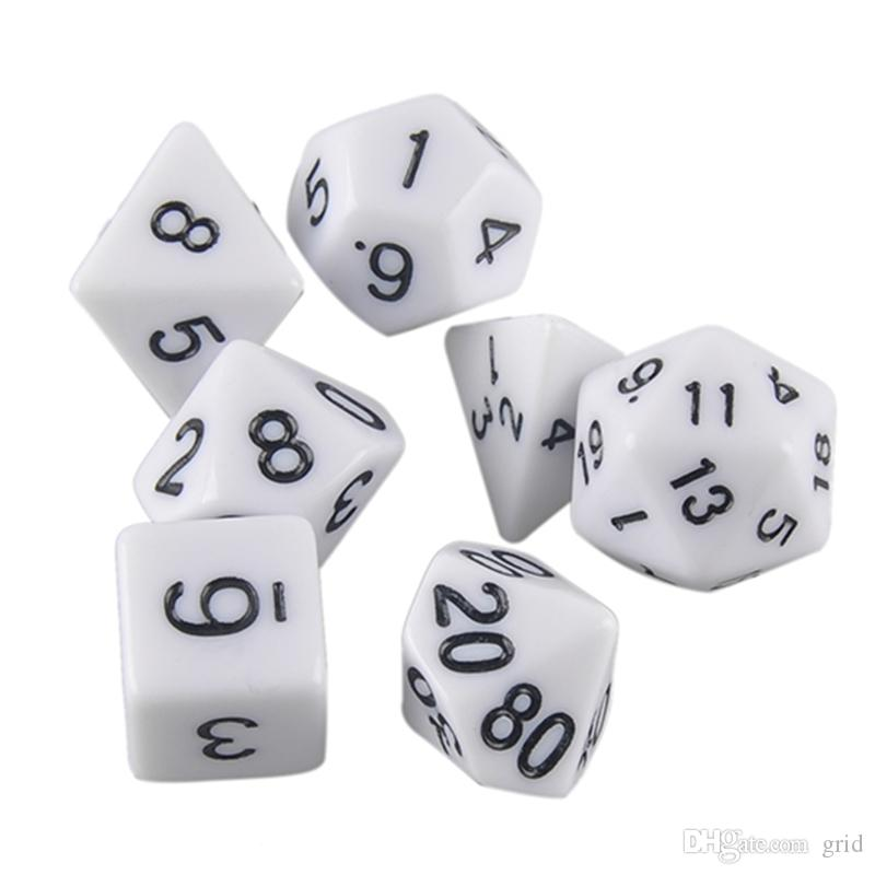 High Quality Outdoor KTV Fun Dice Multi-Sided Dice with Marble Effect d4 d6 d8 d10 d10 d12 d20 Dice Game
