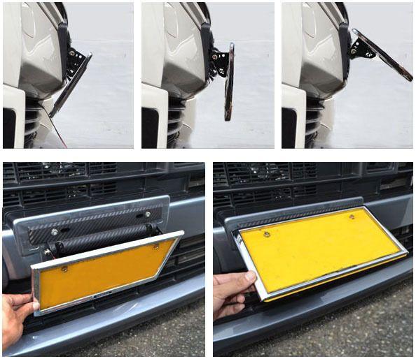 2018 Universal Adjustable Car License Plate Frame Holder Carbon Fiber Racing Number Plate Auto Mount Bracket Car Styling From Nydian $13.07 | Dhgate.Com & 2018 Universal Adjustable Car License Plate Frame Holder Carbon ...